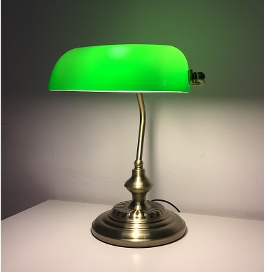 How to replace your bankers lamp shade the bankers lamp green bankers lamp aloadofball Choice Image